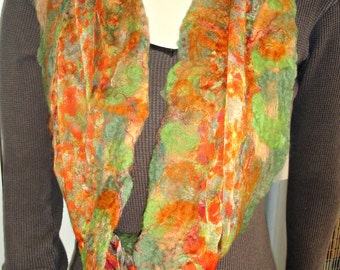 Nuno Felted Scarf, Felted Scarf, Monet Art, Silk Scarf