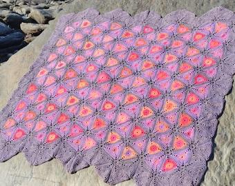 Lecchi  Crochet Afghan/Blanket  - PDF CROCHET PATTERN