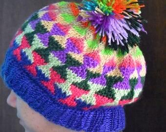 wild fair isle slouch hat
