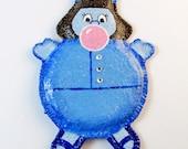Custom order - Violet Beauregarde, Blueberry Girl, Willy Wonka