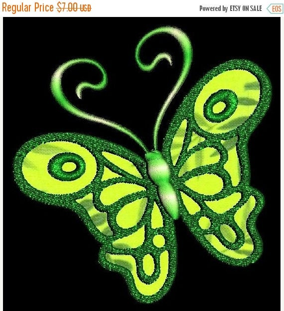 SALE 65% Off Applique Butterfly Butterflies Machine Embroidery Designs - Set of 10 Instant Download Sale