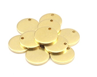 Brass Cabochon Tag, 24 Raw Brass Cabochon Tags, Stamping Tags (14x1.5mm) Y099