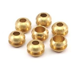 5 Raw Brass Beads, Findings (12x9mm) D155