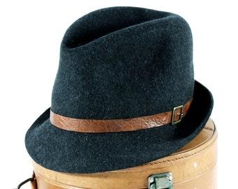 Men's Grey Fedora Hat Men's Spring Hat Open Crown Fedora Hat Gift For Men Men's Accessories Soft Hat packable Crushable Felt Fedora