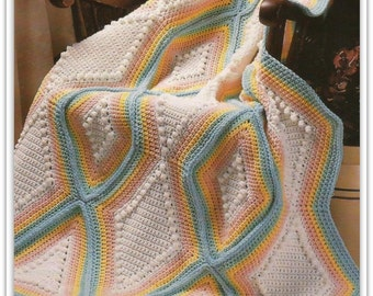 Crochet Afghan Pattern - Instant Download - 15231712