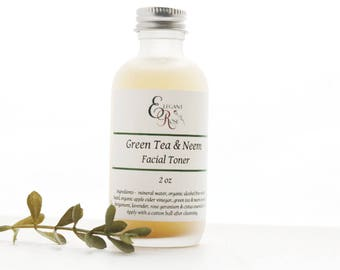 Green Tea & Neem Facial Toner -  for Oily/Acne Skin