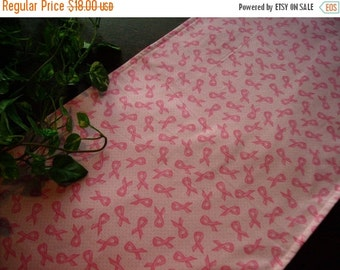 ON SALE Pink Ribbon Table Runner Breast Cancer Padded