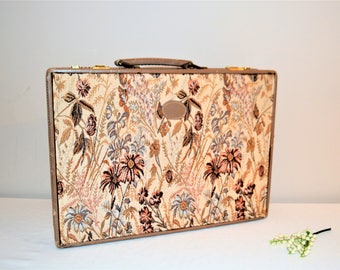 Vintage Briefcase Tapestry with Leather