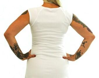 Raglan Dress - S - WHITE - Organic Cotton/Lyrca