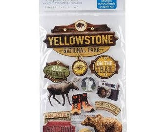 Yellowstone National Park Wyoming 3d Scrapbook Stickers Paper House Vacation Travel
