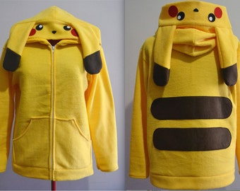 Made to Order Custom Pikachu Hoodie Size 2XL