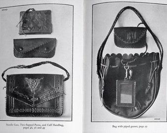 Leathercraft Vintage 20s Leather Work Book Gladys J. Shaw First 1st Edition Dryad Handicrafts decorative arts women's bags handbags purses