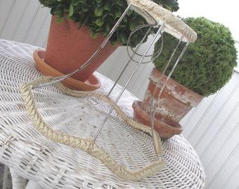 Vintage Lampshade * Shabby Lamp Shade * Shade Frame