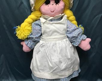 "Large 24"" Soft Sculptured Girl Doll"