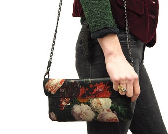 Leather Clutch, leather Shoulder Bag, Leather bag  - Dutch Spring