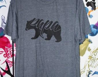 Papa Bear Mens comfy crew t-shirt/ family short sleeve shirt