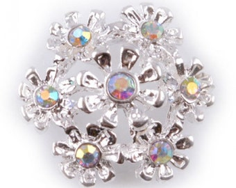 16.5mm Diamante Snowflake - Choice of Pack Sizes