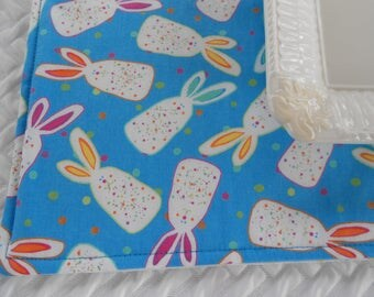 Fabric Placemat, Easter Bunny Placemats, 4 Four Placemat, Sparkly Placemats, Polka Dots, Holiday Placemats, Set of 4 Placemats,