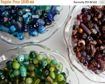 ONSALE Vintage Glass Beads 60 pcs Mixed Lot