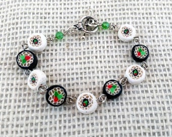 Sushi Roll Bracelet and earrings set