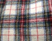 Vintage Plaid Wool Fabric,  Sewing, Small Project,  Wool Material, 100% Wool, Wool Applique, Hooking Fabric