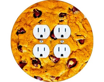 Chocolate Chip Cookie Double Duplex Outlet Plate Cover