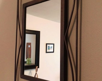 Small Wrought Iron Accent Mirror