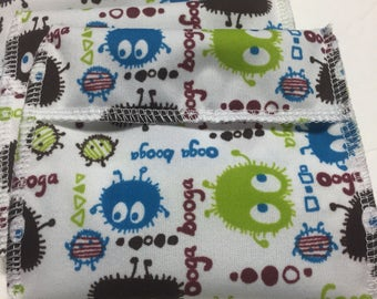 Ooga Booga Tuckables Pouch, Small (4 x 4.5) - Cloth Menstrual Pads, Wipes, Snacks, & more