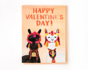 Llamas Valentine's Day Card