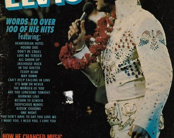 1977 Song Hits Magazine Tribute to Elvis with lyrics to over 100 of his hits by Charlton Publications with 8 x 10 RCA Victor poster
