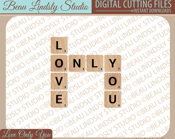 Love You SVG Cutting File, Love Clip Art, SVG File For Silhouette Pattern, SVG File For Cricut Projects, svg Format File, Love Sayings svg