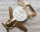 Airplane Bottle Opener Favor w/ Personalized Tag 25qty + /Wedding Favor/Shower Favor