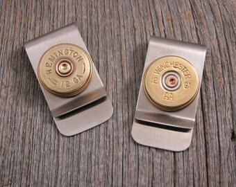 Men's Accessories - Shotgun Casing Money Clip - Gift for Man - 12 Gauge Shotgun Casing Money Clip - Great Gift for Man or Groomsmen Gifts