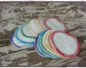 Rainbow Reusable 'Cotton Balls' - Bamboo velour/sherpa facial rounds - makeup remover pads