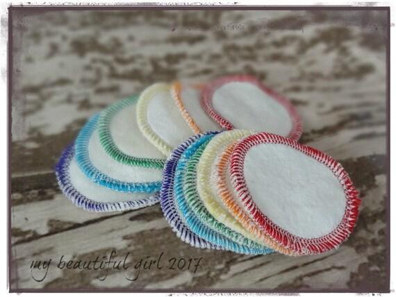 Rainbow Reusable Cotton Balls Bamboo Velour Sherpa