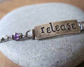simple truths - release - sterling silver and amethyst