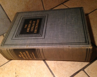 1948 The American College Dictionary Vintage Book