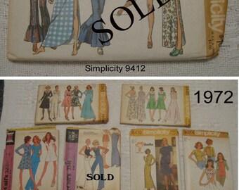 1970's Vintage Sewing Patterns