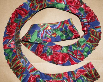 Christmas Fabric Trim Ruffle 1+ Yards Holiday Ornaments Crafts Sewing