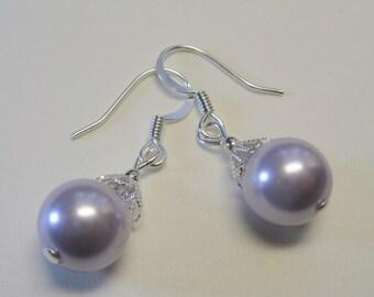 Swarovski Pastel Lavender Pearls  E1515