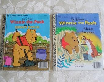 A Little Golden Book Walt Disney Winnie The Pooh  Vintage Books (Set Of 2)