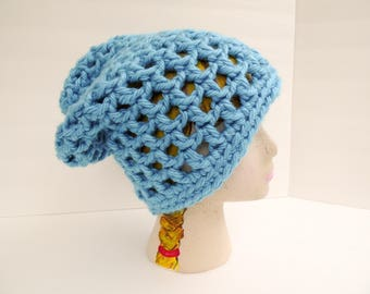 Waffle Cone Slouchy Hat, Charlotte Blue