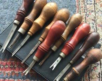 Leatherwork Tools > Edgers> 9 pc collection