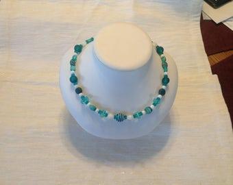 """18"""" Aqua Artglass Necklace"""