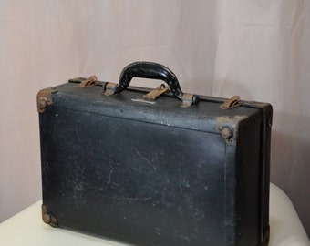 Fibre Products Suitcase Vintage Valise Storage Prop
