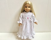 18 Inch American Girl Doll Clothing - Tiny Rose Nightgown
