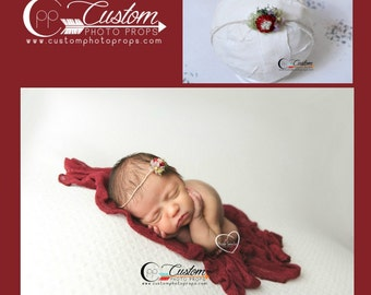 Newborn Headband & Wrap Set, Newborn Photo Props, Baby Wrap with Matching Handmade Headband, Photography Props, Baby Props, Raine and Co.