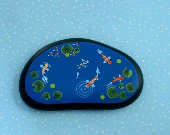 Miniature fish pond-miniatures for fairy gardens-terrarium kits-dollhouse garden art-accessories for fairies-gnome garden-water feature-Koi