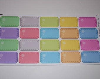 Colorful Half Box Stickers / Great Stickers for your Erin Condren Life Planner / Scrapbooking / Crafting