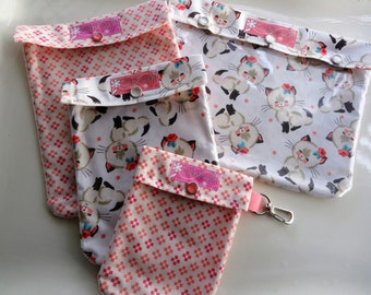 Old Fashioned Cats Clear Front Diaper Bag Organizers 4 Sizes Ouch Pouch Baby Supplies Toddler Totes First Aid Wipes Case